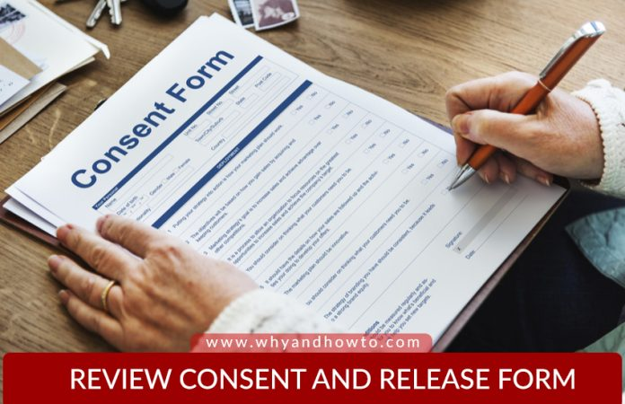 Testimonial Consent Release Form Template